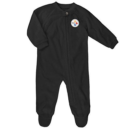 - Outerstuff NFL Infant Color Block Blanket Sleeper-Black-24 Months, Pittsburgh Steelers