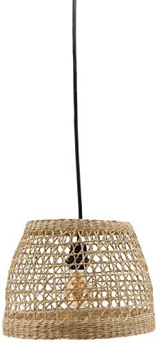 AubryGaspard - Pantalla redonda para lámpara de techo (junco natural): Amazon.es: Hogar