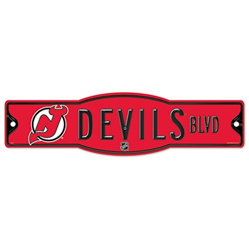 NHL New Jersey Devils 27877010 Street/Zone Sign, 4.5