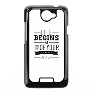 HTC One X Cell Phone Case Black quotes parallax life begins at the end of your confort zone Yacmt