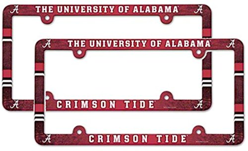Alabama Crimson Tide Ncaa License Plate Frame (2 Pack)