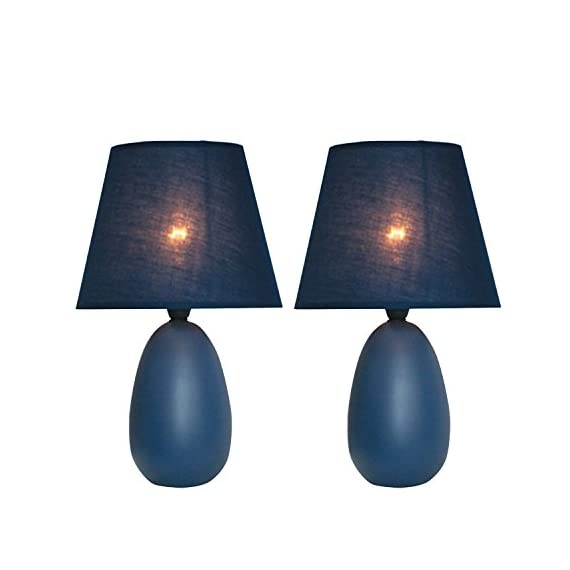 All The Rages LT2009-PRP-2PK Simple Designs Small Purple Oval Ceramic Table Lamp -  - lamps, bedroom-decor, bedroom - 41KNYOopNAL. SS570  -