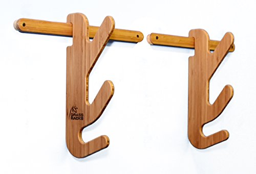 Grassracks Bamboo Ski Rack for 1 or 2 Pairs of Skis Hallsteiner Show-Off by Grassracks