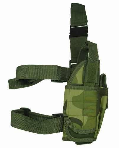 (Ultimate Arms Gear Tactical Woodland Camo Camouflage Adjustable Tornado Drop Leg Beretta 92, 96, PX4 Pistol/Gun w/ Light Or Laser Holster + Magazine Pouch)