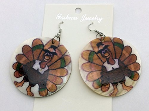 Cute Thanksgiving Design Shell Earrings (Zinc Alloy Earring Hook) J1010