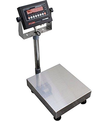 100 LBS x 0.02 LBS Optima Scale OP-915 NTEP IP 65 Mild Steel Bench Scale 12