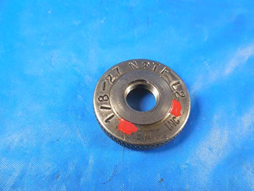 1/8 27 NPTF L2 Pipe Thread Ring GAGE .125-27 N.P.T.F. L-2 Quality Inspection