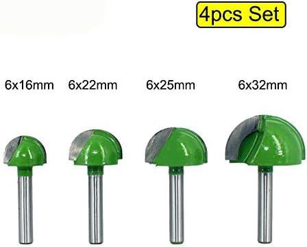 NO LOGO ZZB-ZT, 5pcs Oder 4pcs 6mm Schaft-Kugel-Nasen-Fräser-Spitzen-Satz Schaftfräser Round Cove Box VHM-CNC-Radius Core-Fräsen Bit (Size : 5pcs per Set)