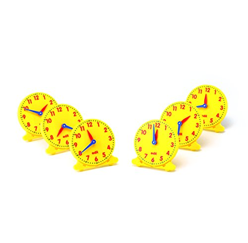 Learning Advantage 25815 Student Clock, Grade: 1 (Pack of 6)