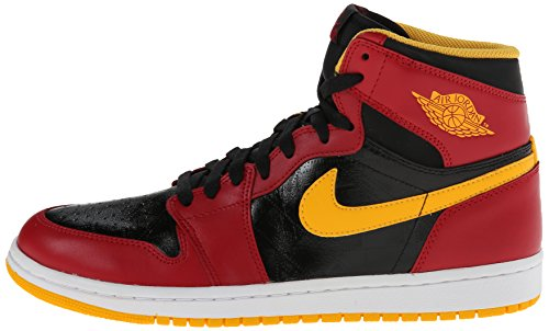 premium selection 239ef f1814 Nike Men s Air Jordan 1 Retro High OG Black Gym Red University Gold  Basketball Shoes 9 Men US - Buy Online in Oman.   Apparel Products in Oman  - See Prices, ...