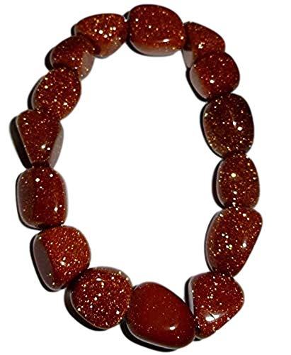 - Sublime Gifts 1pc Red Goldstone Premium Quality Tumbled Crystal Healing Gemstone 6-8 Mm Nugget Beaded Stretch Bracelet