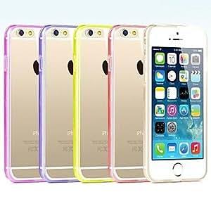 Mini - Super Transparent Hard Back Case for iPhone 6 , Color-Rose