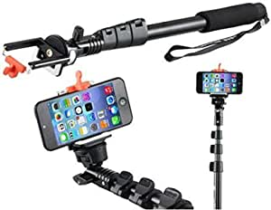 Monopod Selfie Stick For iPhone 5S/6 Samsung Galaxy S5/S6/S6 EDGE - BLACK