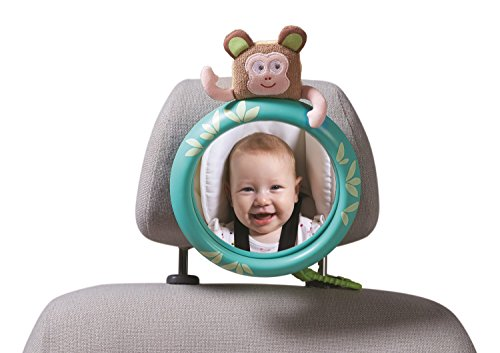 Taf Toys Tropical Car Mirror | Rear Facing Baby Mirror Enables Easier Drive & Easier Parenting, Eye To Eye Contact With Baby While Driving, Back Seat Adjustable Velcro Attachment, Colorful Design