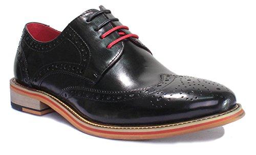 Dover Ville Homme À Chaussures De Noir Reece Justin Lacets Pour IR5wyqgcpx
