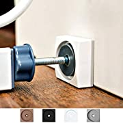 Wall Nanny Mini - Baby Gate Wall Protector (Made in USA) for Dog & Pet Gates - Small Low-Profile Saver - Perfect in Doorways - Cups Protect & Guard Walls from Kid Child Safety Pressure Gates - 4 Pack