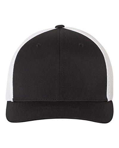Flexfit Ultrafiber Mesh Cap - 6533,Black/White,L/XL (7 1/8