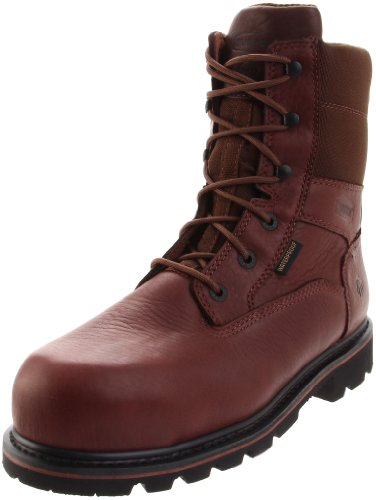 8' Insulated Hunting Boots - Wolverine Men's Novack 8 Inch Comp Toe Boot, Brown, 10 XW US