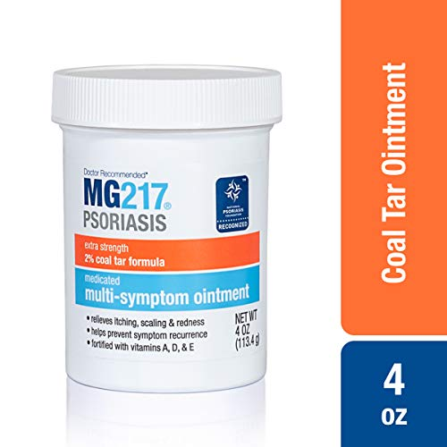 MG217 Psoriasis Multi Symptom Relief 2% Coal Tar Medicated Ointment - 4 oz Jar