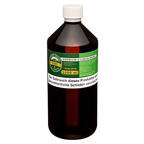 OMG E-Liquid Base 1000ml zum Mischen von E-Liquids, E-Shisha, etc. – Ohne Nikotin (70VG / 30PG)