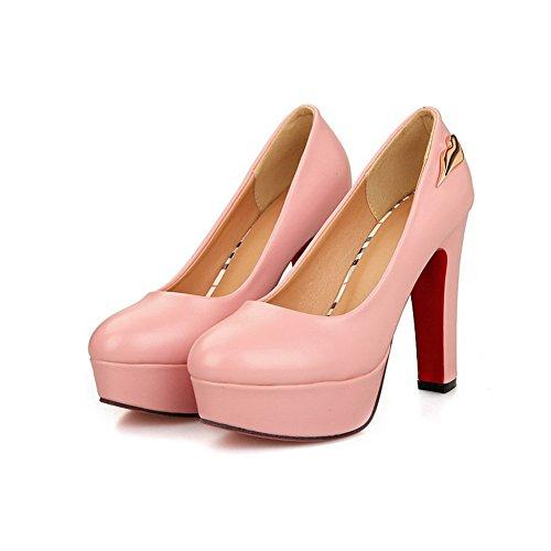 Balamasa Ladies Tacchi Alti Scarpe Con Tacchi Alti In Pelle Imitata Rosa