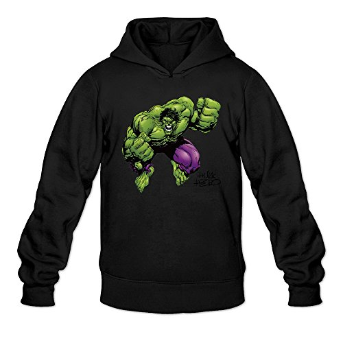 MARY Men's The Incredible Stronger Red Hulk Sweatshirts Black
