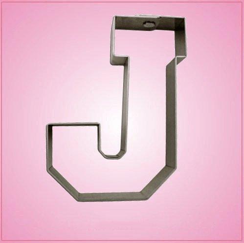 Varsity Letter J Cookie Cutter 4.25 inch (metal) aluminum ()