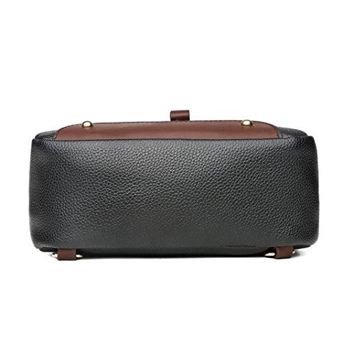 b8a1a9bedf7 Women Double Shoulder Bags,Neartime Vintage Leather Backpack Travel School  Bag Square Zipper Satchel (🌹 23cm(L)×9cm(W)×26cm(H), Pink)  Beauty