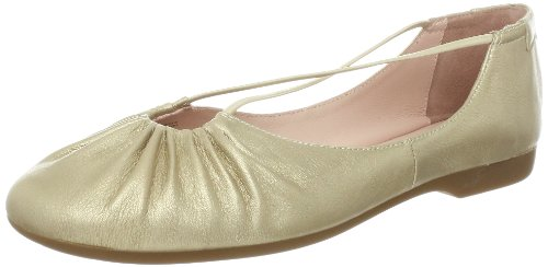 Taryn Rose Kvinners Bryan Ballet Flat Champagne Metallisk Nappa
