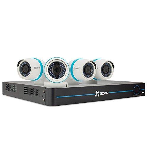 EZVIZ FULL HD 1080p Outdoor IP PoE Surveillance System, 4 Weatherproof HD Security Cameras, 8 Channel 2TB NVR Storage, 100ft Night Vision, Customizable Motion Detection, ONVIF Compliant