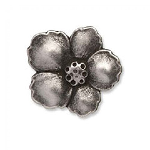 Flower Metal Buttons (Impex Metal Flower Buttons - per pack of 2)