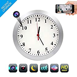 TTCDBF 1080P WiFi Hidden Camera Wall Clock spy Camera Nanny Camera with Motion Detection, Indoor Home and Office Hidden Security Camera, no Night Vision, Remote View Using APP