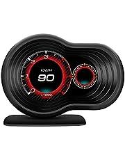F9 Head Up Display Digital Speedometer Projector Turbo Oil Temp OBD GPS HUD 360 Degree Rotation Car On-Board Computer