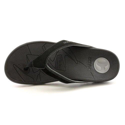 c3aba3713038 Vionic Mens Bryce Toe Post Sandal Black Grey Size 8 - Import It All