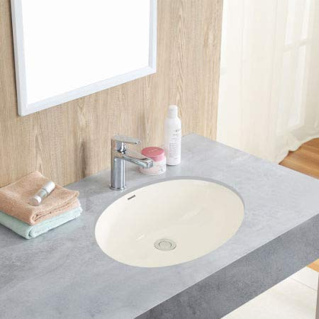 3 Cartons 1602B Oval Undercounter Bathroom Ceramic Sink Biscuit 16 X 13 Inches 1//Carton Changie