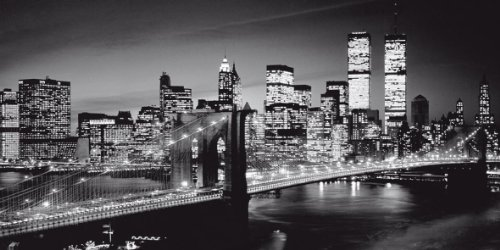 Canvas Leinwand Bild Keilrahmenbild 100 x 50 New York Skyline NY USA ...
