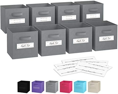 6 Pack - SimpleHouseware Foldable Cube Storage Bin with