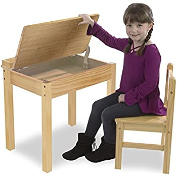 Melissa U0026 Doug Desk U0026 Chair   Wood Grain Childrenu0027s Furniture