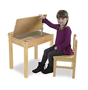 Amazon Com Melissa Amp Doug Child S Lift Top Desk Amp Chair