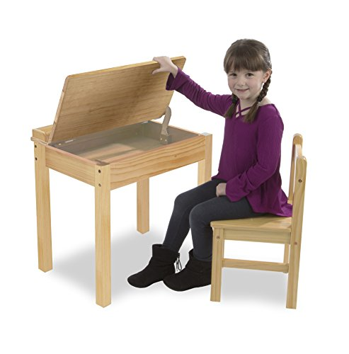 Melissa & Doug Child's Lift-Top Desk & Chair - Honey