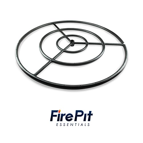 Fire Ring Burner for Fire Pits and Fireplaces | 30 Inch, Black Steel Burner | Includes Connector Kit