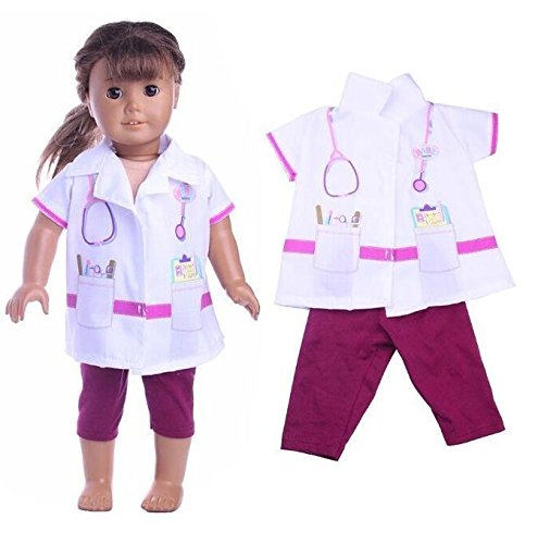 EatingBiting(R)Doll Doctor Nurse Clothes and Trouser Set For 18