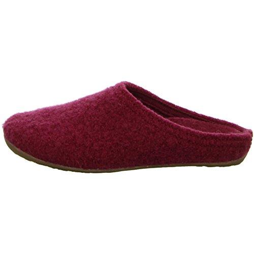 Haflinger Classic 481002 - Pantuflas de tela unisex Rojo