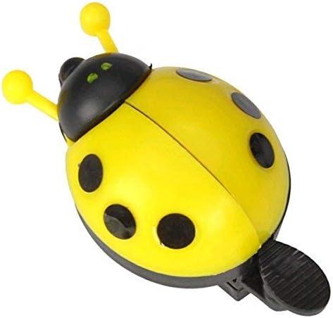 VORCOOL Funny Cartoon Lady Beetle Timbre para manillar de bicicleta con forma de mariquita amarillo