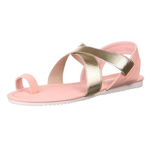 Ital-Design - Sandalias de vestir de Material Sintético para mujer Rosa - Rosa Gold