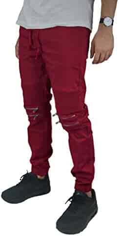 faf094b65ad Victorious G-Style USA Zipper Knee Biker Twill Jogger Pants