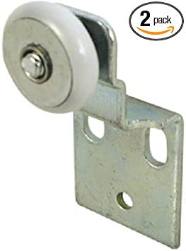 Amazon Com Slide Co 16202 B Closet Door Roller Assembly 3 4 In Convex Edge Ball Bearing Plastic Wheel 1 2 In Offset Home Improvement
