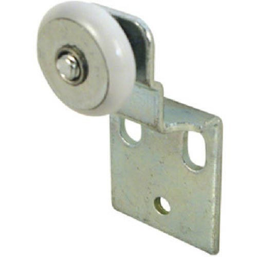 Slide-Co 16202-B Closet Door Roller Assembly, 3/4 in. Convex Edge Ball Bearing Plastic Wheel, 1/2 In. (Roller Slides)