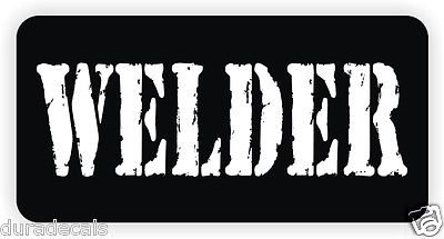 3pcs WELDER Hard Hat Sticker / Decal / Label Tool Lunch Box Helmet Funny Flag /Bumper / Truck / Sticker / Decal 2""