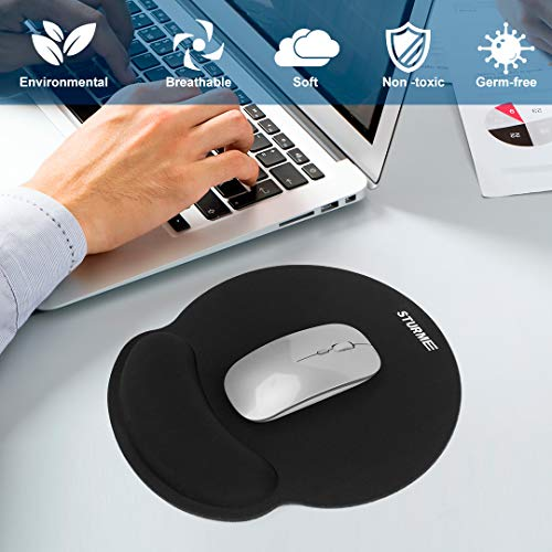 STURME Mouse Pad with Wrist Support Non-Slip Base Ergonomic Silicone Wrist Rest Use for Laptop, Home, Office Photo #5
